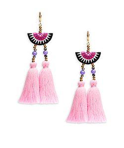 Shashi   Camilla Tassel-Drop Earrings
