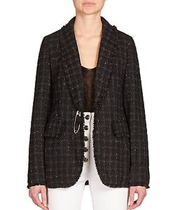Sonia Rykiel | Fringed Tweed Cape Blazer