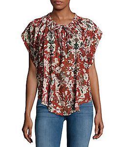 Iro | Abstract-Print Tie-Front Top