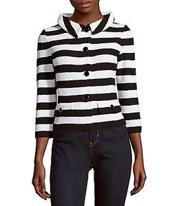 St. John | Striped Wool-Blend Jacket