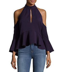 C/Meo | Halterneck Cold-Shoulder Top