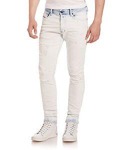 Diesel   Tepphar Bleached Skinny Jeans