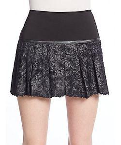 Ohne Titel | Waxed Texture Mini Skirt