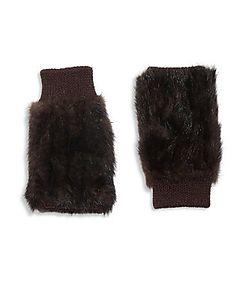 Jocelyn | Fingerless Fur Gloves