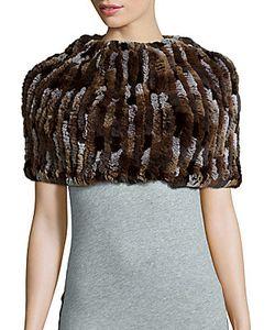 Jocelyn | Knit Rabbit Fur Infinity Scarf