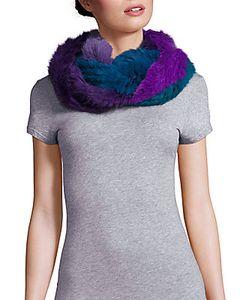 Jocelyn | Multicolored Rabbit Fur Infinity Scarf