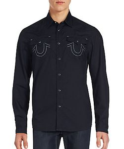 True Religion | Solid Button-Up Shirt