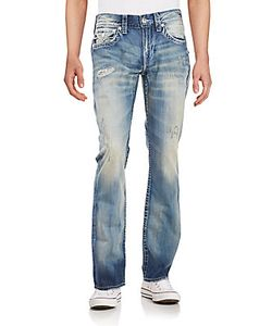 True Religion | Distressed Washed Jeans