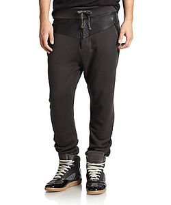 Prps | Leather-Trimmed Sweatpants