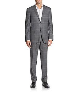 Corneliani | Regular-Fit Windowpane Wool Suit