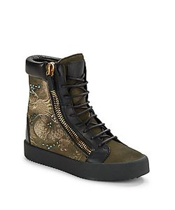 Giuseppe Zanotti | Dragon Embroidered Boots