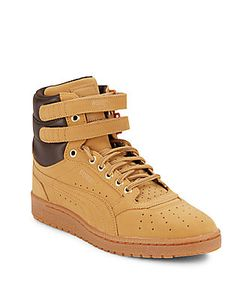 Puma | Leather-Blend Perforated High-Top Sneakers