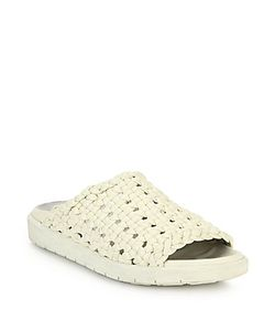 Helmut Lang | Woven Leather Slippers