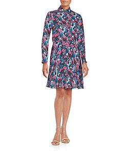 Haute Hippie   Floral Printed Long Sleeve Silk Dress