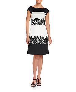 J. Mendel | Two-Tonal Floral Embroidered Dress