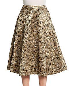 Alice + Olivia | Jacquard Pleated Skirt