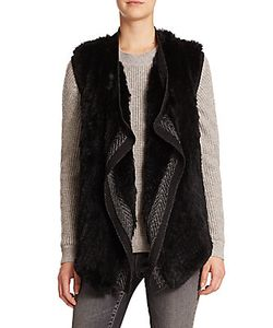 Vince | Draped Wool Rabbit Fur Vest