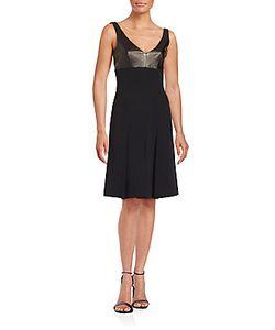 J. Mendel | Silk Leather Empire Dress