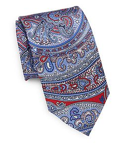 Saks Fifth Avenue | Mixed Print Silk Tie