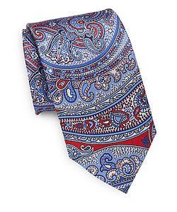 Saks Fifth Avenue | Mixed Print Silk Tie