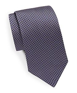 Saks Fifth Avenue | Honeycomb Patterned Silk Tie