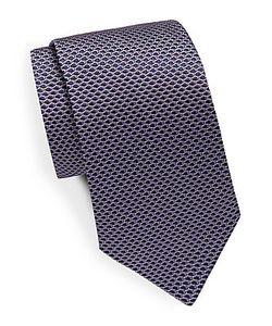 Saks Fifth Avenue | Honeycomb Patterned Silk Tie