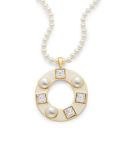 Kenneth Jay Lane | Pearl Pendant Necklace