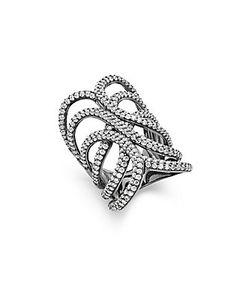 Noir | Crystal Studded Ring