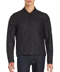 Michael Kors | Long Sleeve Leather Jacket