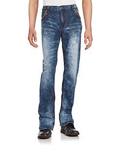 Affliction | Straight-Leg Faded Denim Jeans