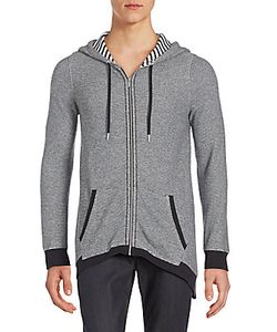 Calvin Klein Collection | Micro-Zigzag Knit Hooded Jacket