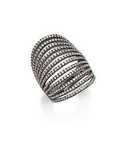 Noir | Multilayered Crystal Set Ring