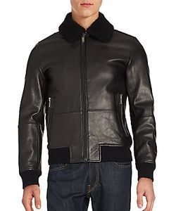 Michael Kors | Leather Long Sleeve Jacket