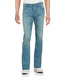Raleigh Denim | Five-Pocket Cotton Denim Pants