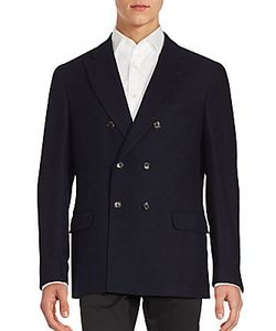 Brunello Cucinelli | Wool Silk Blend Double-Breasted Jacket