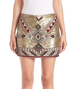 Alice + Olivia | Elana Embellished Mini Skirt