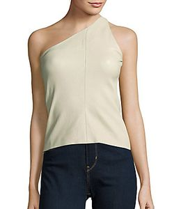 Narciso Rodriguez | One-Shoulder Lambskin Top