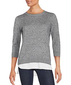 Calvin Klein | Double-Layered Woven Sweater