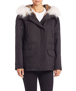 Army Yves Salomon   Rabbit And Coyote Fur Jacket