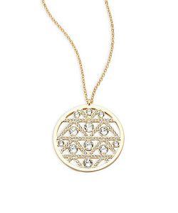 SWAROVSKI | Crystal Studded Round Pendant Necklace