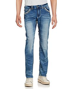 Affliction | Faded Whiskered Jeans