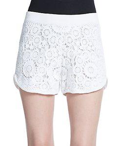 Tess Giberson | Floral Crochet Shorts