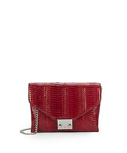 Loeffler Randall | Jr Lock Clutch Elaphe Color K