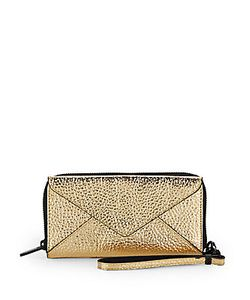 Loeffler Randall | Zip Walletgold Pebble Metallic