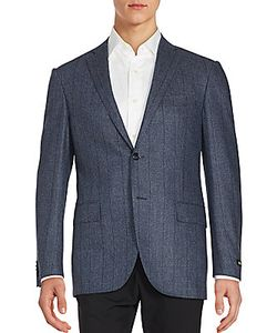 Corneliani | Virgin Wool Glen Plaid Sportcoat