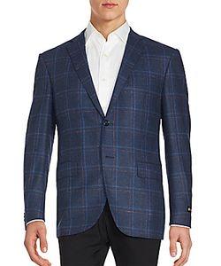 Corneliani | Long Sleeve Windowpane Jacket