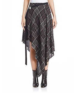 Public School | Danen Plaid Wool Blend Skirt