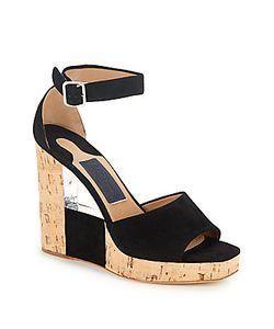 Salvatore Ferragamo | Pert Suede Cut-Out Wedge Sandals