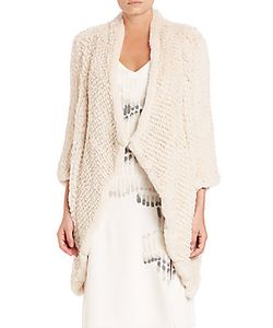 Halston | Rex Rabbit Fur Sweater Coat
