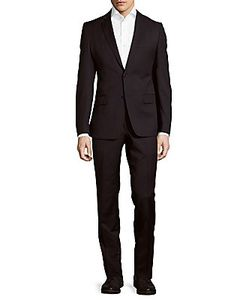 Versace Collection | Slim Fit Solid Wool Suit